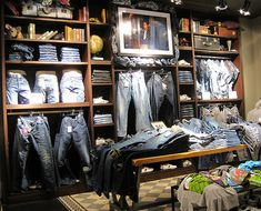 Powerful men's denim wall in Pull and Bear