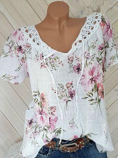 Cheap Womens Tops, Lace Print, Blouse Online, Plus Size Blouses, Short Sleeve Blouse, Short Sleeves, Long Sleeve, Bat Sleeve, Printed Blouse