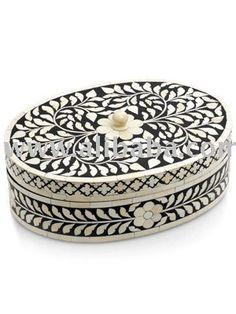 Beautiful Bone Inlay Box...#antique #vintage #box