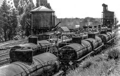 Does any one have a better date for the construction of the pipeline and oil dock than some time between 1935 and // Train Museum, Railroad Pictures, Train Route, Railroad History, Old Trains, Rolling Stock, Model Train Layouts, Train Car, Rio Grande