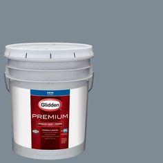 Glidden Premium 5 gal. #HDGB64U Night Sky Grey Satin Interior Paint with Primer