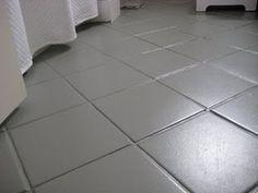 paint gray tile floor - Google Search