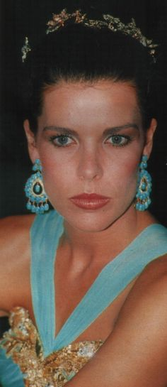 Princess Caroline of Monaco.Red Cross Ball,August 4,1989.