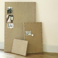 Have you seen those adorable burlap bulletin boards, memo boards, shadow boxes - and anything else you can think of, covered with burlap...