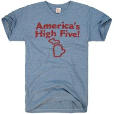 Michigan knows how to have fun. We're shaped like a hand, after all. High five, America! Love this!!