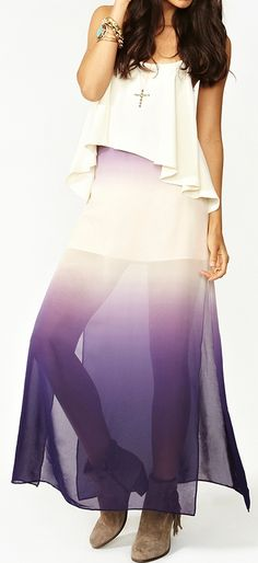 Ombre. Not a good style for me but I really like the layering of fabric and colors.