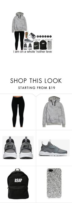 """""""Untitled"""" by realcrazyshelle ❤ liked on Polyvore featuring H&M, NIKE, ASAP, Mercedes-Benz and Yves Saint Laurent"""