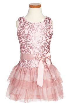Cute pink sequin and tulle party dress!