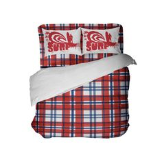 Preppy USA Plaid Comforter Set with Surf Pillowcases from Kids Bedding Company Red Bedding Sets, Matching Bedding And Curtains, Bedding Sets Online, Luxury Bedding Sets, Comforter Sets, Preppy Bedding, Plaid Comforter, Linen Bedding, Bed Linens