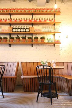 Curved benches and antique style chairs pizzarevolution