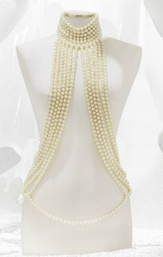 Gorgeous CHANEL Pearl Harness