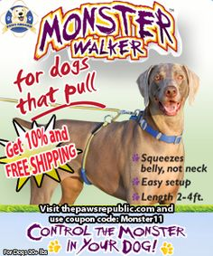 MONSTER WALKER for dogs that pull - Save 10% and Get FREE SHIPPING