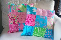 Patchwork and quilted cushions Free Pattern and Instructions