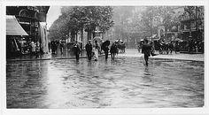 A Wet Day on the Boulevard, Paris, 1894. Alfred Stieglitz (American, 1864-1946). Gelatin silver print. Metropolitan Museum of Art, New York.