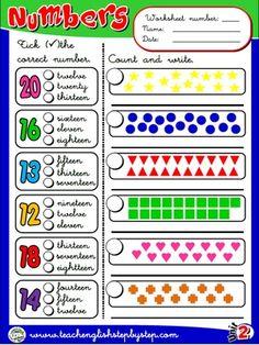 Numbers - Worksheet 5