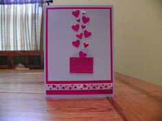 Valentine card sending all my love. by Cardsdesignedbymary on Etsy