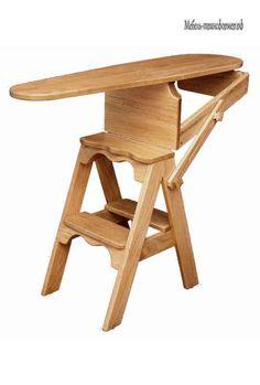 Деревянная гладильная доска стремянка - Лестница, стремянка трансформер - Мебель-трансформер.РФ