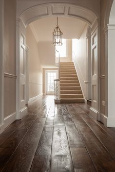 Church Road: Hand Made French Oak - The New & Reclaimed Flooring Company Engineered Oak Flooring, Solid Wood Flooring, Wooden Staircases, Wooden Stairs, Stairways, Victorian Hallway, Flooring Companies, Natural Wood Finish, Old Farm Houses