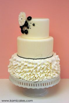 {Cassandra} by Kami Cakes - Inspired by bridal couture.