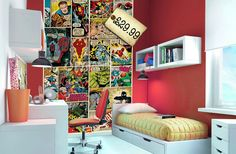 marvel-superheroes-comic-books-made-into-wall-mural