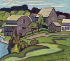 Alfred Joseph Casson, 'Rockwood' at Mayberry Fine Art Group Of Seven Artists, Group Of Seven Paintings, Canadian Painters, Canadian Artists, Tom Thomson, Jackson, William Turner, Impressionist Landscape, Ontario