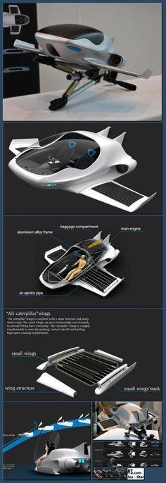 Future Transportation - Air-Elf Aircraft [Collage made with one click using http://pagecollage.com] #pagecollage http://hoog.li/g?g=http%3A%2F%2Fpsipunk.com%2Fair-elf-aircraft%2F