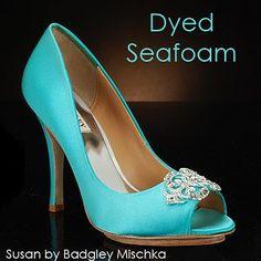 Badgley Mischka Turquoise Bridal Shoes