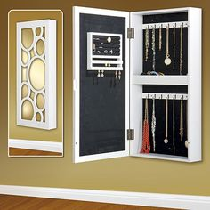 Mirror jewelry armoire – affordable and adorable jewelry organizers