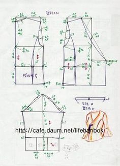 Best 12 Tips To Make Arts And Crafts More Fun — Read more info by clicking the link on the image. Blouse Patterns, Clothing Patterns, Sewing Patterns, Sewing Clothes, Diy Clothes, Sewing Hacks, Sewing Tutorials, Knitting Short Rows, Modern Hanbok