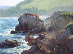 plein air and studio landscape oil paintings by nationally recognized Northern California artist Kathleen Dunphy Costa, Ocean Scenes, Beach Scenes, Landscape Art, Landscape Paintings, Painting Competition, California Surf, Seascape Paintings, Oil Paintings