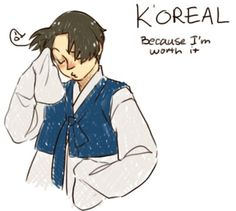 Yeeeep. *slicks back hair* #APH #SouthKorea
