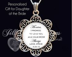 Maid of Honor gift - Daughter is Maid of Honor - from Bride to Daughter- From Mother to Daughter, maid of honor, matron of honor, bridesmaid Maid Of Honour Gifts, Matron Of Honour, Maid Of Honor, Small Gift Boxes, The Wedding Date, My Little Girl, Cloth Bags, Custom Items, Heart Charm