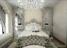 Chambre blanc argenté