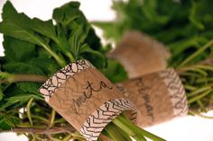 Eco-Friendly Food Packaging - Tina Jeler Creates Herb Labels are Biodegradable and All-Natural (GALLERY) Vegetable Packaging, Spices Packaging, Organic Packaging, Fruit Packaging, Food Packaging Design, Packaging Design Inspiration, Product Packaging, Simple Packaging, Beauty Packaging