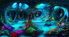 Underwater Caves (Commission) by jjpeabody.deviantart.com on @deviantART