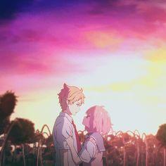 Gifs de Animes Diversos: Gifs Kyoukai no Kanata