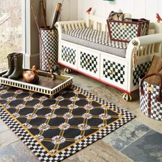 MacKenzie-Childs - Courtly Check Boot Bench