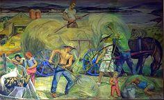 Marguerite Zorach. Hay-making. 1942 mural.