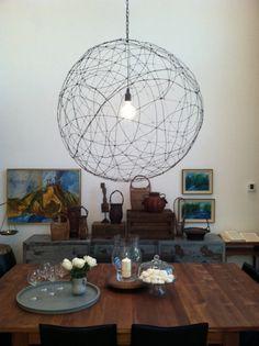 DIY orb chandelier