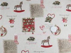 Tkanina dekoracyjna świąteczna - Listy 197 Tkaniny i inne przydasie