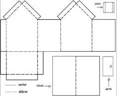 Moldes de casas para imprimir, recortar e montar ou confeccionar maquetes! - ESPAÇO EDUCAR