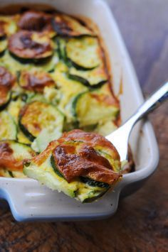 Tortino di zucchine al forno con uova ricetta leggera vickyart arte in cucina