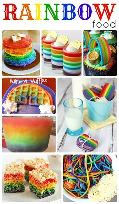 90 St Patricks Day Ideas Are you looking for some really cute rainbow recipes, crafts and desserts! Rainbow Food, Taste The Rainbow, Rainbow Pasta, Rainbow Rice, Rainbow Stuff, Rainbow Theme, Rainbow Colors, Chocolate Brown Paint, Chocolate Color