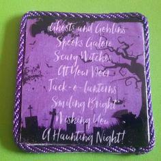 È halloween! Maxi magnete realizzato interamente a mano in stile rockabilly horror dark gothic zombie splatter halloween