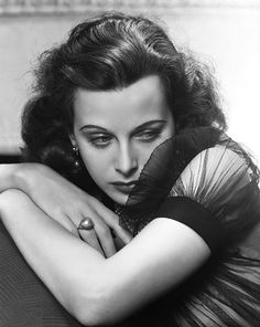 """""""All creative people want to do the unexpected."""" Hedy Lamarr...photo by George Hurrell."""