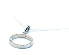 Diamond set Circle Pendant - Pendants & Necklaces - Shop Diamond Rings, Diamonds, Pendants, Necklaces, Pendant Necklace, Silver, Shopping, Jewelry, Products