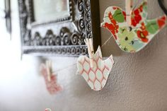 Another cute idea for vintage bird theme baby shower.