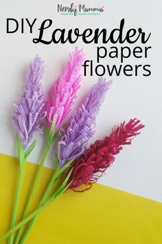 What You'll Want To Hunt For In A Very Do-it-yourself Dwelling Energy Audit Bored With A Corner Of Your Bathroom? So I Totally Made Some Diy Paper Lavender Flowers. You Can Call Them Paper Flowers. Or on the other hand Lavender Paper Flowers. Easy Paper Crafts, Easy Diy Crafts, Diy Craft Projects, Diy Paper, Crafts For Kids, Simple Crafts, Craft Ideas, Easy Paper Flowers, Giant Paper Flowers