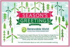 It's the most wonderful time of the year and we'd like to wish all of you your family and your loved ones all the very best this holiday season and a happy and healthy 2018.  Thank you for your invaluable and continued support this year and for helping us bring clean and sustainable sources of energy to even more power-poor communities in Kenya Nepal Bangladesh and Nicaragua.  We really look forward to sharing with you in 2018 even more stories of lives that have been transformed thanks to…