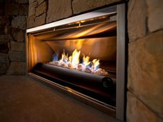 Vent-free Gas Fireplace in the 2012 HGTV Dream Home Outdoor Living Room